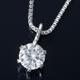 K18WG 0.1ctダイヤモンドペンダント/ネックレス ベネチアンチェーン