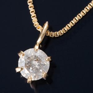 K18 0.1ctダイヤモンドペンダント ベネチアンチェーン