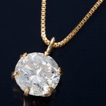 K18 0.5ctダイヤモンドペンダント ベネチアンチェーンの詳細ページへ