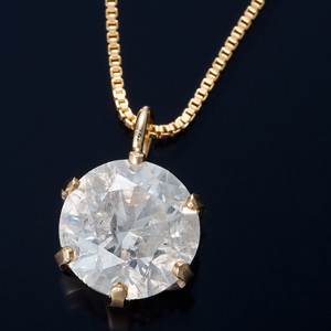 K18 0.7ctダイヤモンドペンダント ベネチアンチェーン