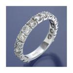 K18WG ダイヤリング 指輪 2ctエタニティリング 18号の詳細ページへ