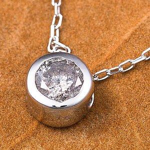 K18WG 0.15ctダイヤモンドフクリンペンダント