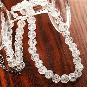 天然クラック水晶 ネックレス