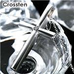 Crossten ブラックダイヤ メンズクロスネックレス