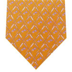Ferragamo(フェラガモ) ネクタイ Orangeモチーフ N-FER-A00661