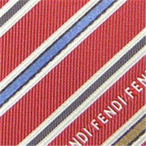 01フェンディ/FENDI シルクネクタイ Red N-FEN-A00469