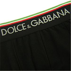 01DOLCE&GABBANA/メンズアンダーウェア 0034 ブラック Sサイズ/MU-DOL-A0063