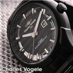 Charles Vogele ブラックスケルトン CV-8027
