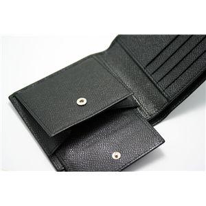 BVLGARI(ブルガリ) 二つ折り財布(小銭入れ付き) 20253 ブラック