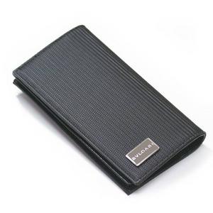 BVLGARI(ブルガリ)ミレリゲ 二つ折り長財布小銭入れ付き25550 ブラック