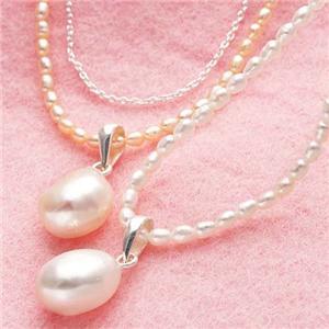 池蝶真珠 2連ネックレス ホワイト&キャンドルライトカラー キャンドルライト