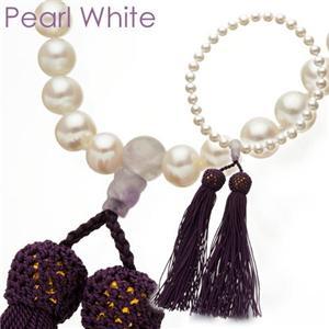 池蝶真珠 念珠(数珠) パールホワイト