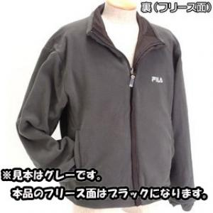 FILA リバーシブル裏フリースジャケット AOGKM524Z チャコールグレー M