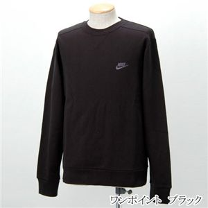 NIKE(ナイキ) 裏毛トレーナー ワンポイント/206927  ブラック Mサイズ