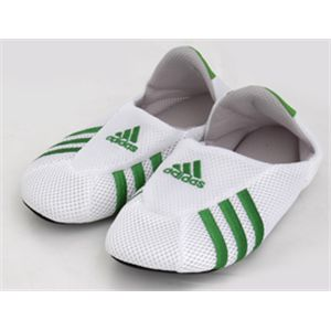 adidas(アディダス) ロッカールームソックス ホワイト×フェアウェイ23-25cm