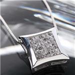 K14WGダイヤモンドミステリーセッティングペンダント