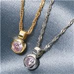 K18 ピンクダイヤモンド0.08ct シンプルペンダント FMP-TM00335/WG/ホワイトゴールド