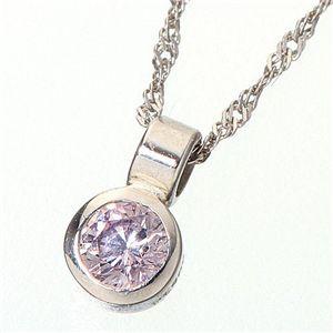 Pt900 ピンクダイヤモンド0.08ct シンプルペンダント FMP-TM00336