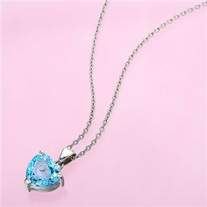 Diamond in your heartシリーズ ブルートパーズペンダント