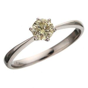 K18WGアイスカナリアダイヤモンド0.45ctリング 7号のデザイン