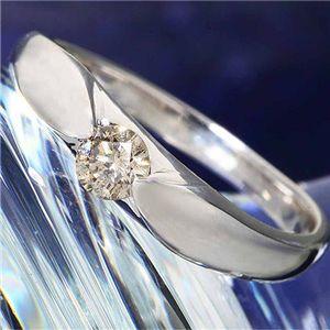 シャンパンゴールドダイヤモンド0.2ct一粒リング9号