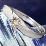 シャンパンゴールドダイヤモンド0.2ct一粒リング17号の詳細ページへ