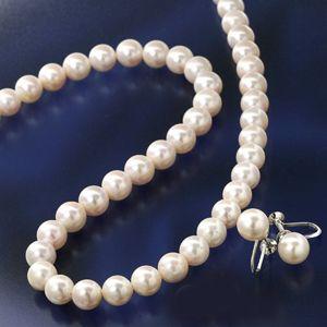 大珠8〜8.5mm珠 あこや真珠 パールネックレス&パールイヤリングセット 鑑別付のデザイン