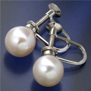 大珠8〜8.5mm珠 あこや真珠 パールネックレス&パールイヤリングセット 鑑別付のイヤリング