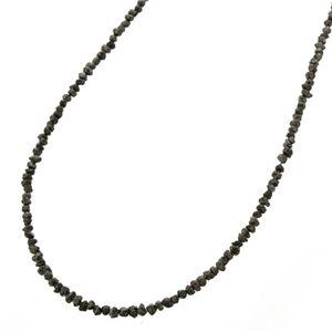 原石ブラックダイヤ合計14ctネックレスのデザイン