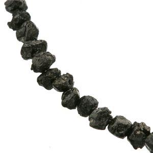 原石ブラックダイヤ合計14ctネックレスの宝石