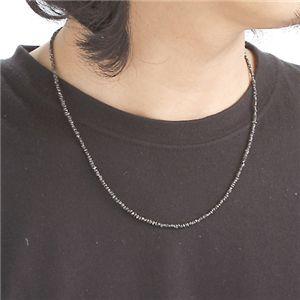 原石ブラックダイヤ合計14ctネックレスを着けた印象