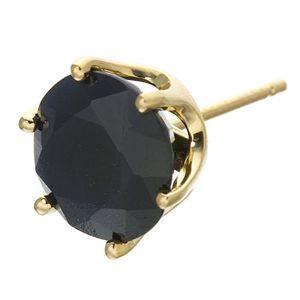 K18 2ct ブリリアントカットサファイヤピアスの宝石