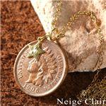 Neige Clair(ネージュクレア) K18ダイヤモンドチャーム付き インディアンコインペンダントの詳細ページへ