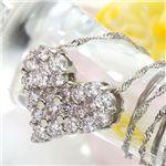 プラチナ0.5ctピンクダイヤモンドハートパヴェペンダント(鑑別付き)