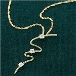 K14/YG ウェービーダイヤモンド3ストーンペンダントの詳細ページへ