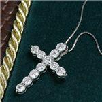 プラチナ5ct ダイヤモンドクロスネックレスの詳細ページへ