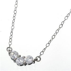 プラチナ0.15ct SIクラスダイヤモンドV3ストーンペンダントのデザイン