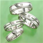 ステンレス&ダイヤモンドリング RSDM03 ツーラインスリムサイズ 21