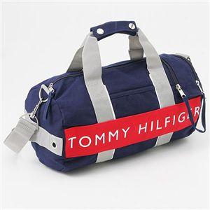 TOMMY HILFIGER(トミーフィルフィガー) ミニボストンバッグ MINI DUFFLE ハーバーポイント2 Navy×Red