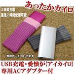 USB充電・愛懐炉(アイカイロ) ACアダプター付 シルバー