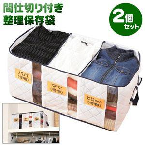間仕切り付き整理保存袋(窓付き)【2個セット】