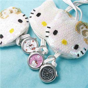 HELLO KITTY(ハローキティ) Hello Kitty スイングポーチウォッチ HKY-4040-WH ホワイト