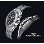 Charles Vogele(シャルル・ホーゲル) メンズクロノグラフブレスウォッチ CV-7937-3