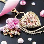 ピンクダイヤモンドウェディングブーケストラップの詳細ページへ