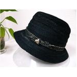OBIJIME(帯締め) コットン帽子 ブラック
