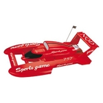 水上ラジコン Sports game 小型コンパクト設計 レッド