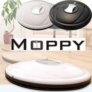 とっても可愛くてかしこい!フローリング用お掃除ロボット『モッピー(MOPPY)』 ブラック