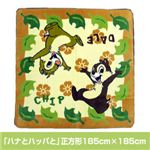 ディズニーボアラグ 「ハナとハッパと」正方形185cm×185cm
