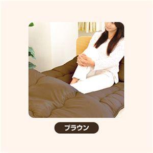 ピーチスキン加工 寝具4点 ダブル【フローリング・床用】 ブラウン の詳細をみる