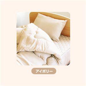 ピーチスキン加工 寝具4点 ダブル【ベッド用】 アイボリー の詳細をみる